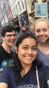 A photo of Cornell engineering students in Edinburgh, Scotland