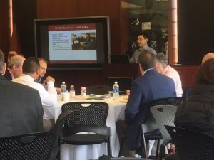 Oliver Gao presenting at the Ivy Plus Facilities Management Spring Conference