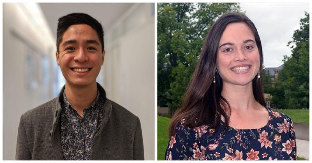 Portraits of two graduate students