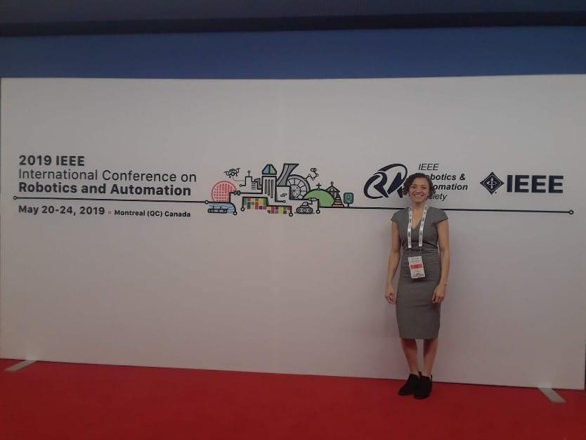 Thais presents at a Robotics conference