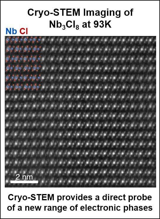 Atomic-resolution cryo-STEM
