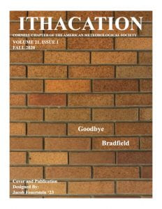 The cover of the Fall 2020 edition of Ithacation