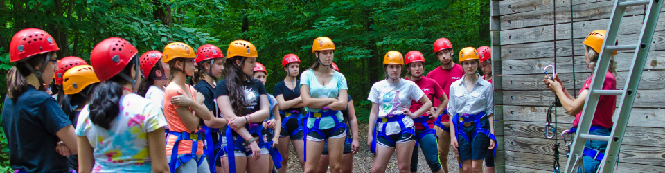 young women at hoffman challenge course