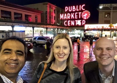Singh with friends and colleague Susan Thomas (Gatech ME BioE) and Ed Phelps (UFBME) @ SFB 2019 in Seattle