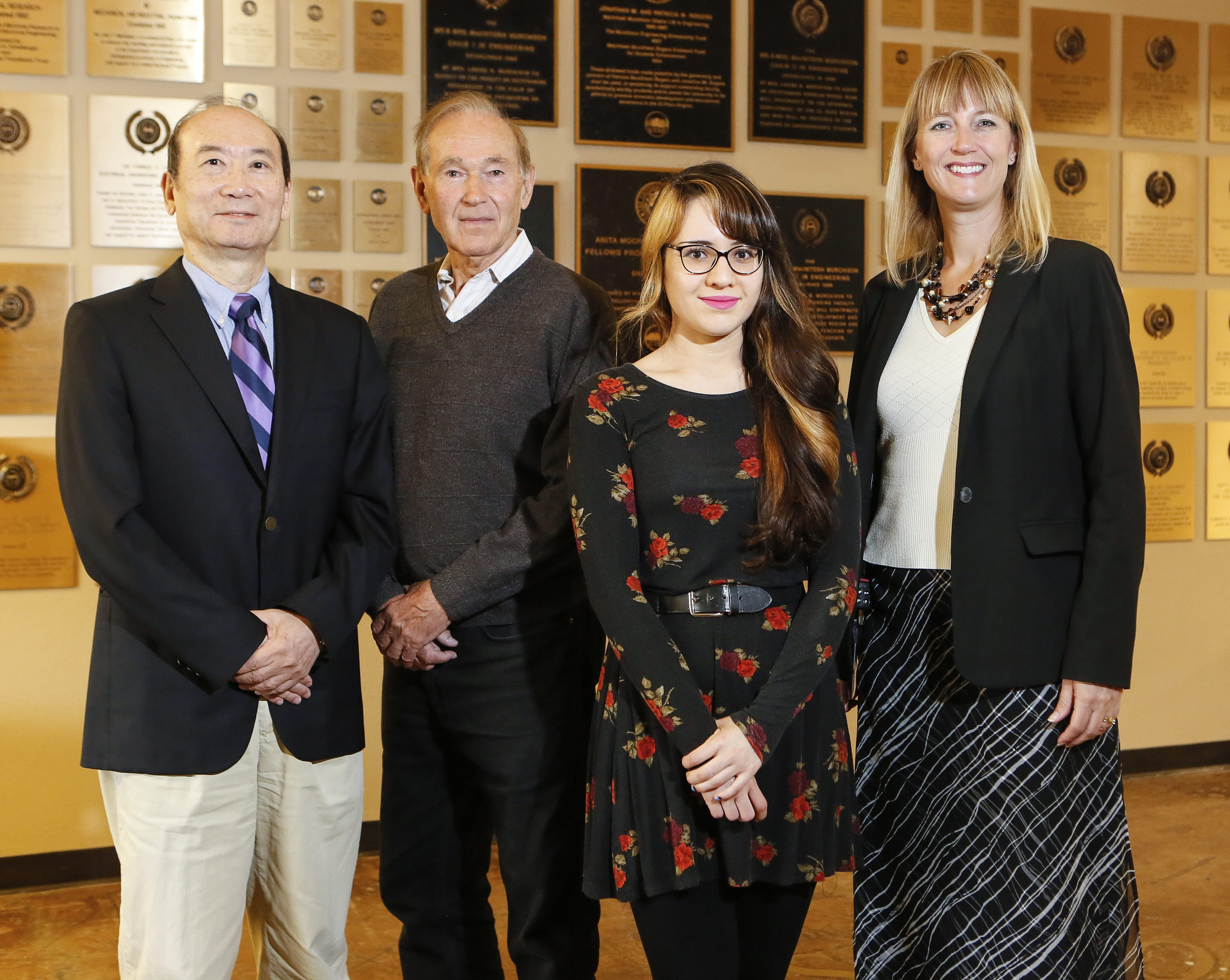 Dr. Wen-Whai Li, Dr. Anthony Tarquin, Mayra Chavez, and Dr. Leah Whigham.