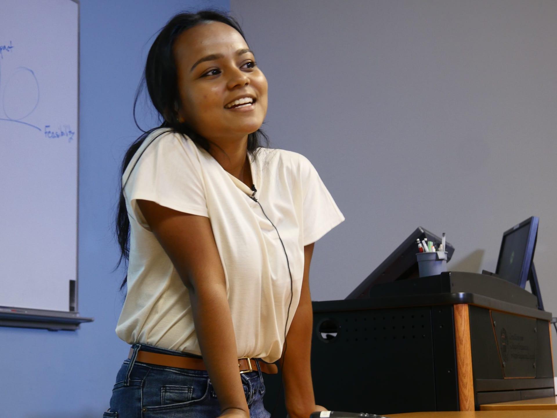 2018 REU undergrad, Sayeeda Jahin Aishee