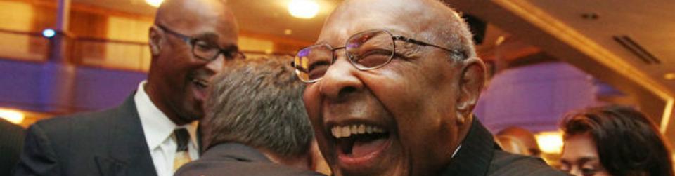 Closeup of Congressman Stokes Laughing