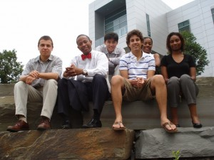 Group photo of six LSAMP REU participants from 2008