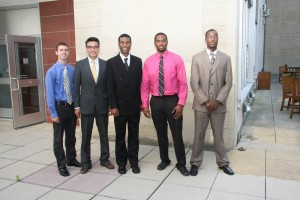Group photo of 5 male LSAMP REU participants from 2010