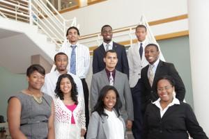 Group photo of ten LSAMP REU participants from 2012