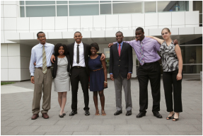 Group photo of 7 LSAMP REU participants from 2013
