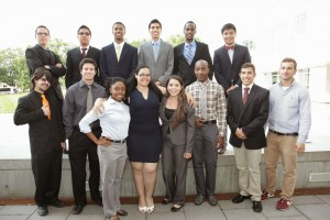 Group photo of 14 LSAMP REU participants from 2014
