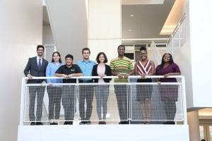 Group of 8 LSAMP REU Scholars from 2018 cohort