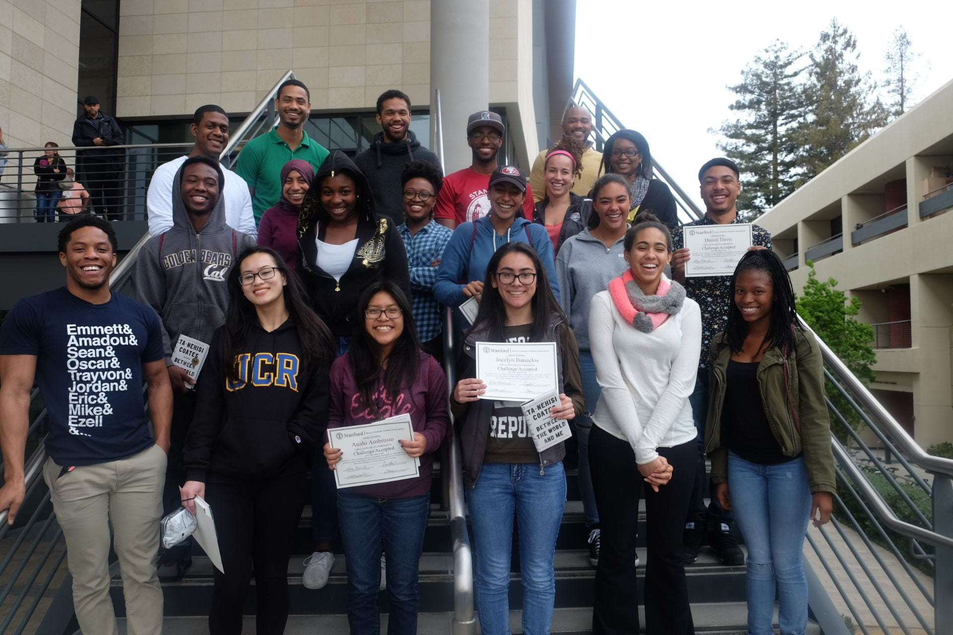 Students participating in the Challenge Accepted program