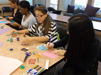 Middle school students participating in EPASA elective programming