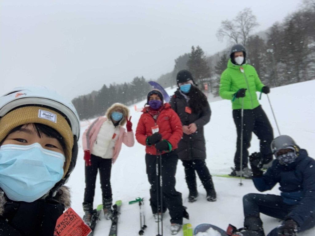 VESL group in the snow