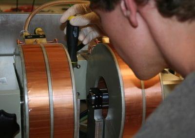Jason working in lab