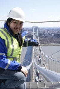 Susie Lai on top of a bridge.
