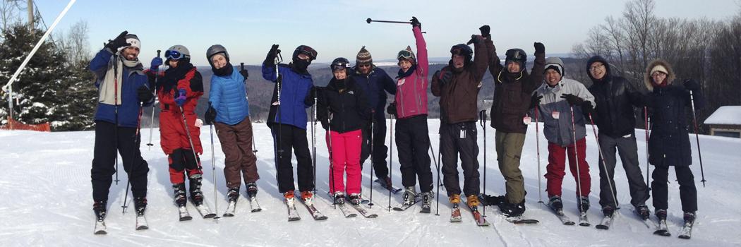 Putnam Lab bonding on ski trip to Greek Peak