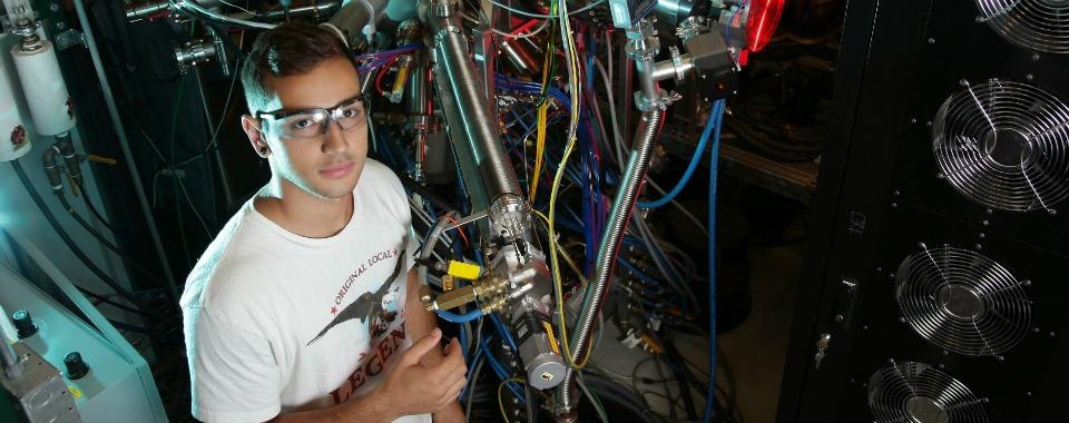 Male undergraduate researcher