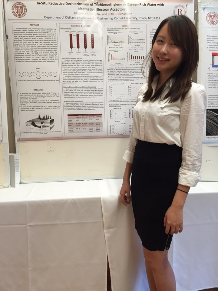 Tiffany Lee presents her research at the Engineering Learning Initiatives