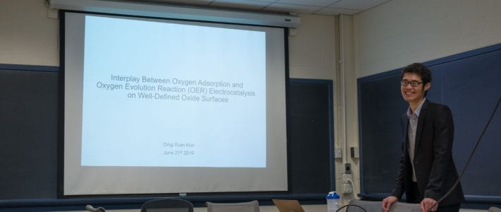Congratulation to Ding-Yuan Kuo for becoming the FIRST PhD in Suntivich group!