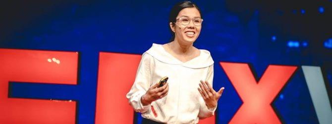 Kayla speaking at TedX