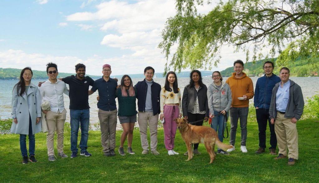 Group photo at Stewart park
