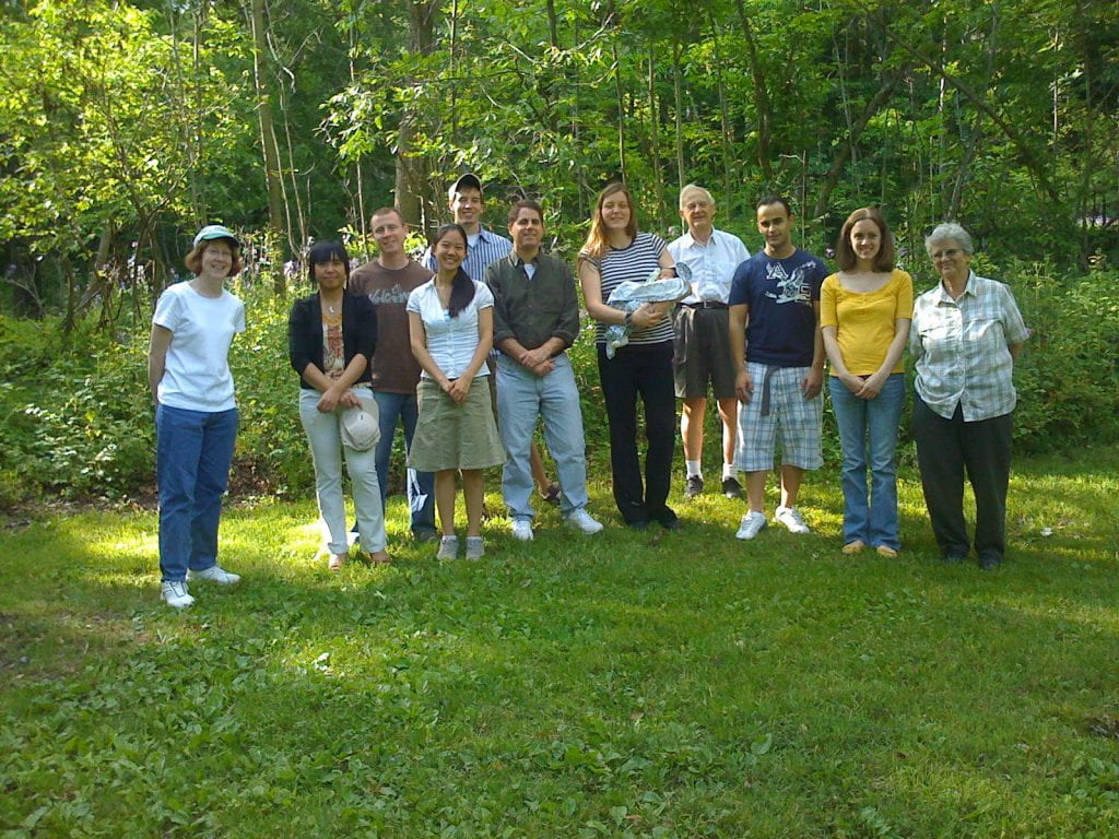 Group photo at Treman park in 2009
