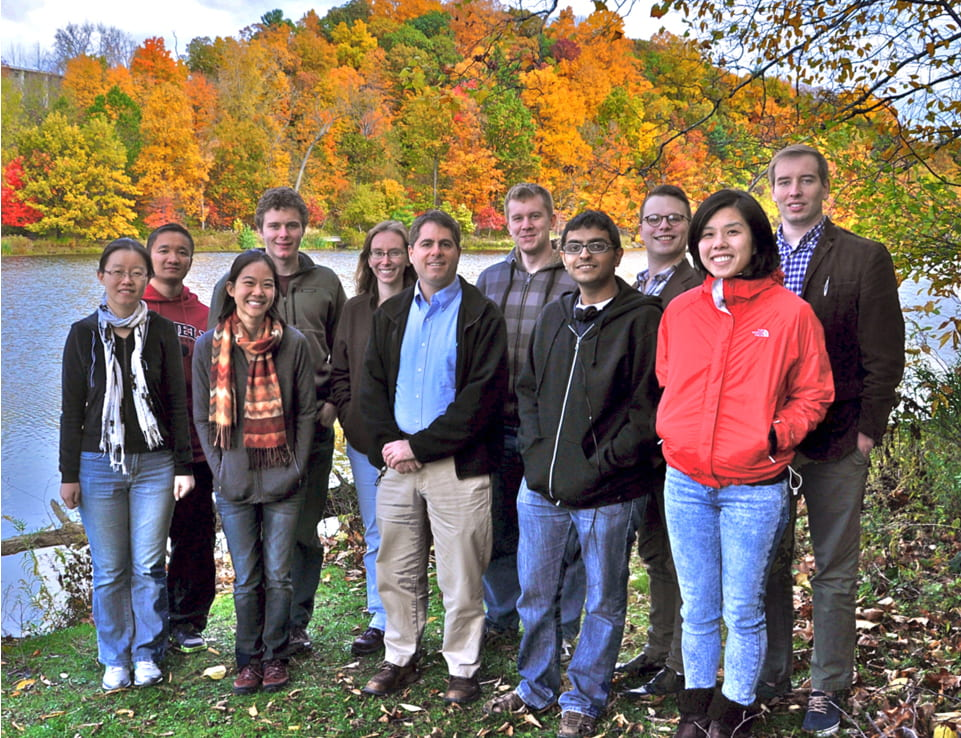 Photo of group by Beebe lake in the Fall