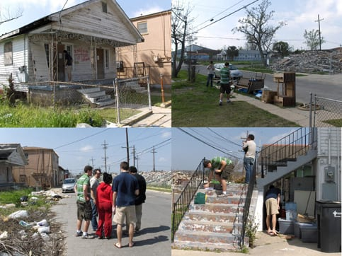Park Doing with ESW students in New Orleans' 7th Ward