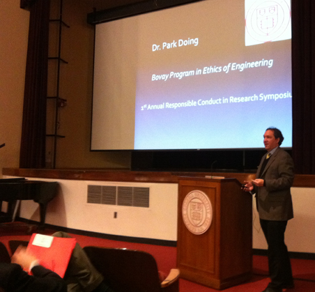 Dr. Park Doing presenting in front of a group