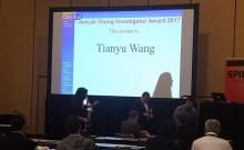 Tianyu Wang giving presentation