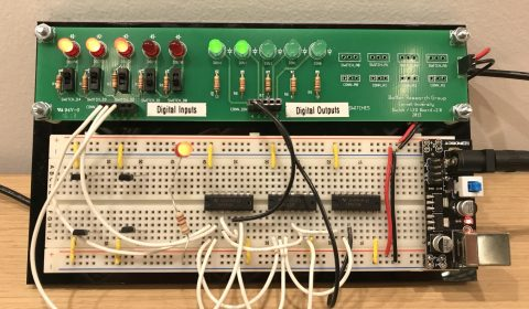 Board showing digital input and digital output