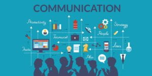 Visual display of communication