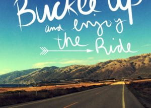 Inspirational picture describing the open road