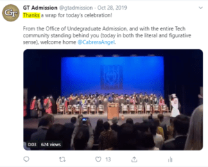 Georgia Tech Admission Tweet Typo