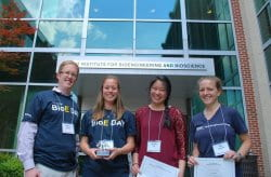 Lei wins Best Presentation at BioE Day