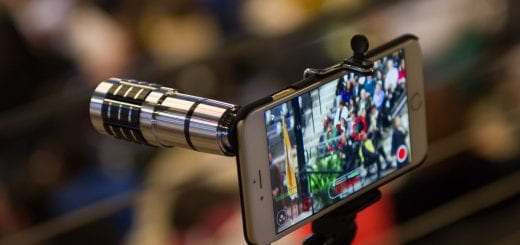 Smartphone being used as a Camera