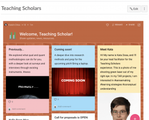 Picture of Padlet with introduction