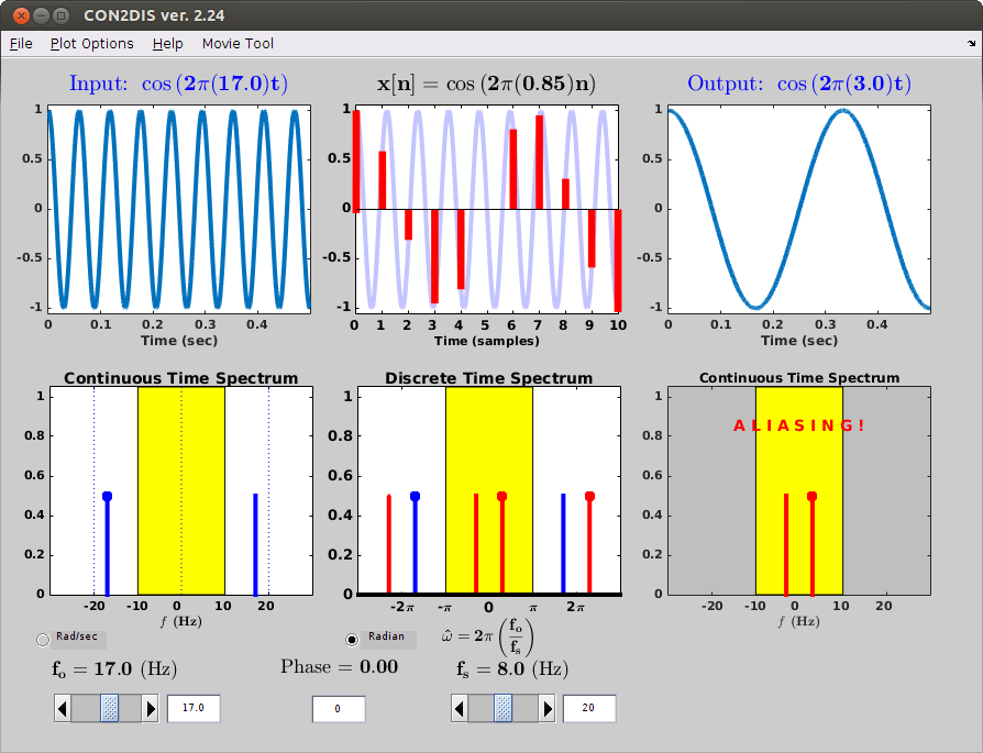 Continuous-Discrete Sampling Demo Screenshot