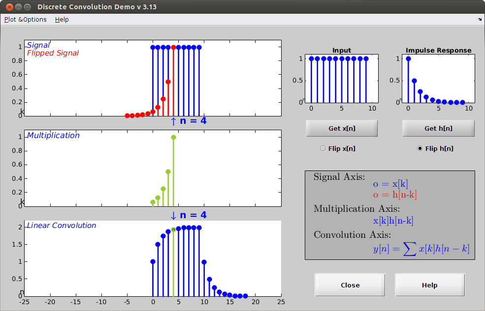 Discrete Convolution Demo Screenshot