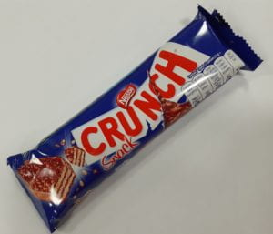 A crunch bar. The crispy, chocolatey, (wafer-y?), late-night fuel of champions.