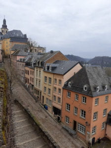A charming, tucked-away street in Luxembourg City