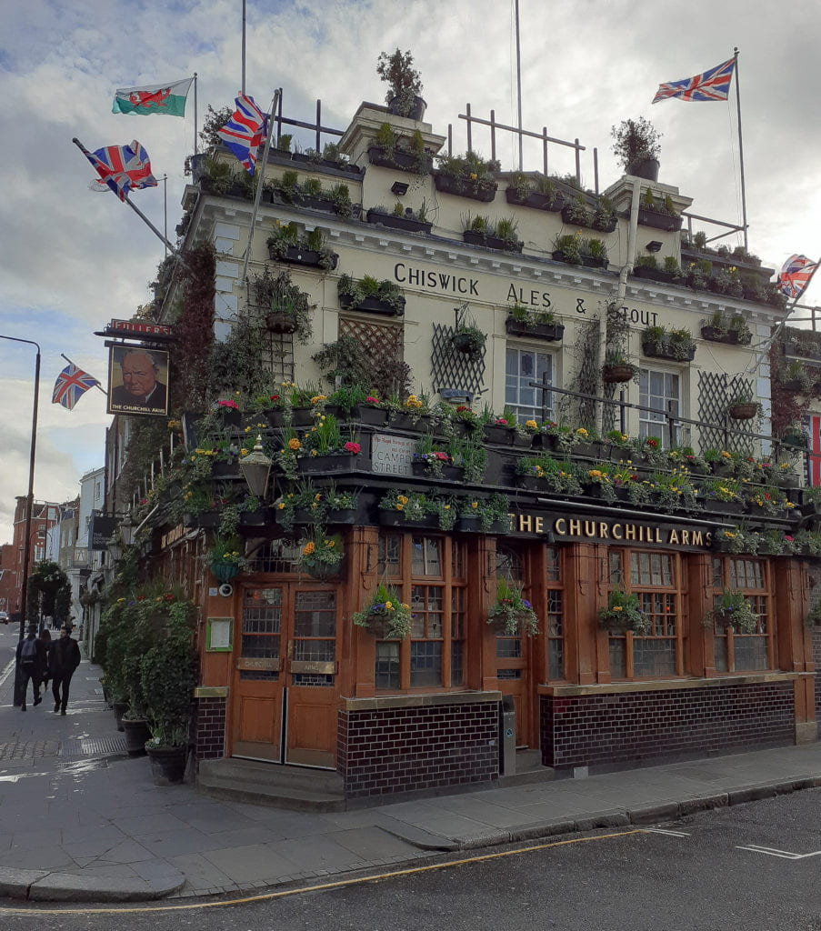 The Churchill Arms Pub and Restaurant in Kensington