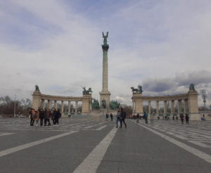 The Millennium Monument at Heroes' Square