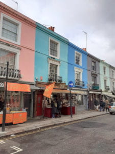 The colorful, whimsical Portobello Road