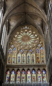 This is the Rose Window in the Cathedral de Metz.