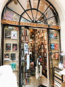 an image of the front door of the bookshop