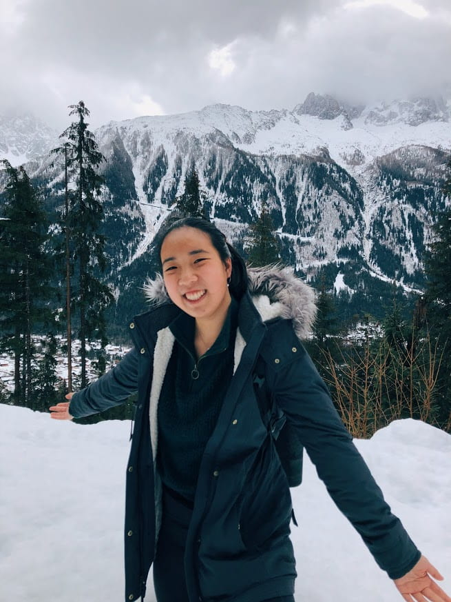 an image of Kaitlyn in the Alps